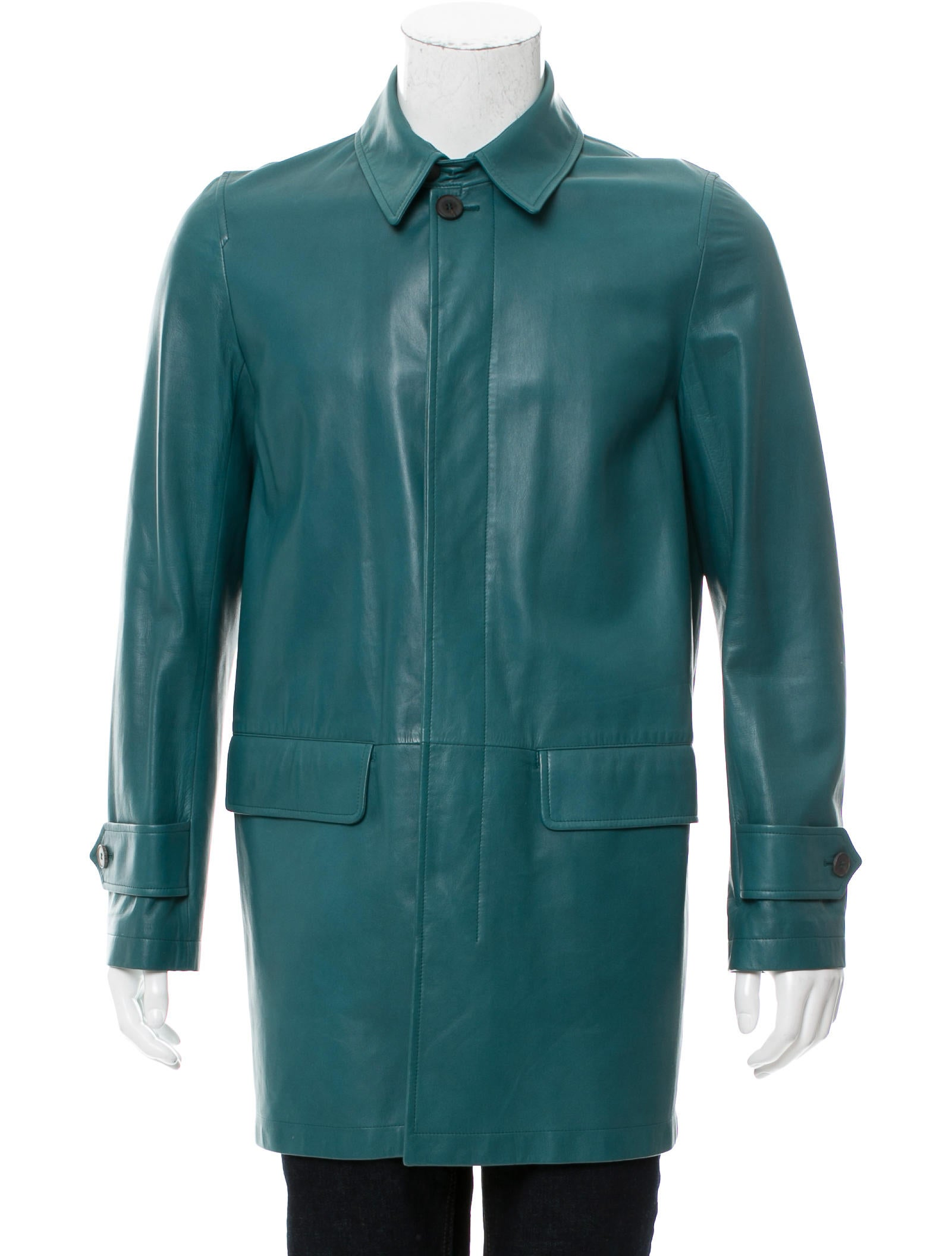 Bally Leather Car Coat Clothing Wb221901 The Realreal