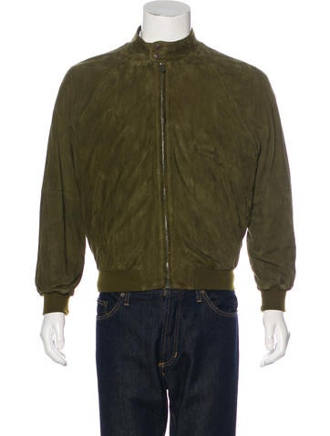 Bally Suede Bomber Jacket None