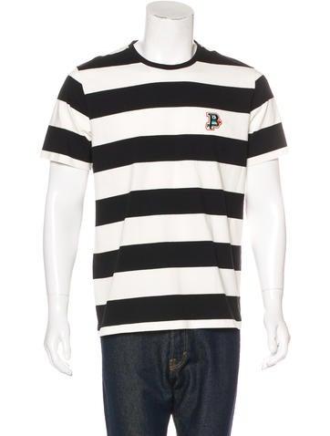 Bally Logo Striped T Shirt Clothing Wb222197 The