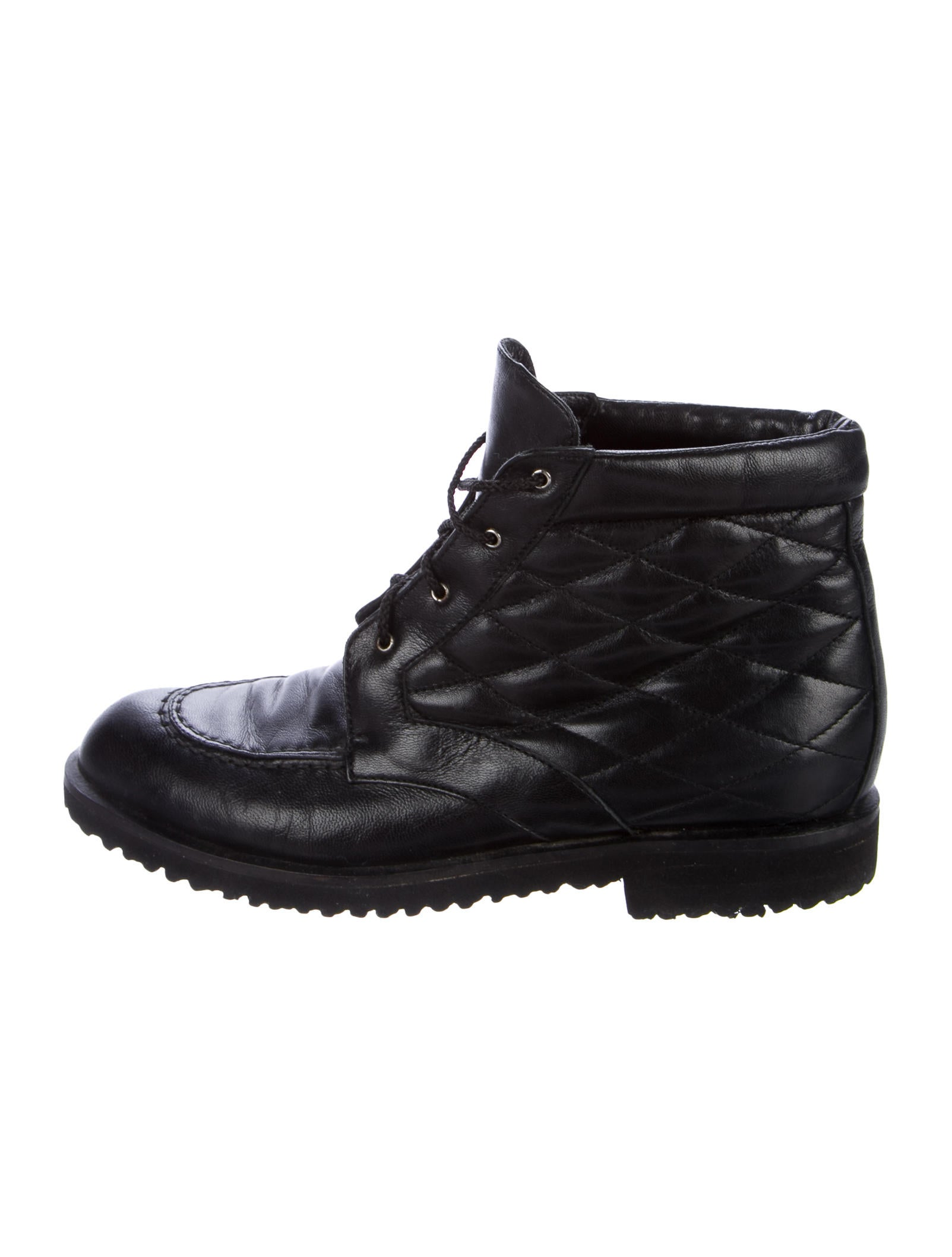 Bally Quilted Leather Ankle Boots popular LWGicX