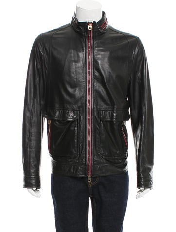 Bally Leather Cafe Racer Jacket None