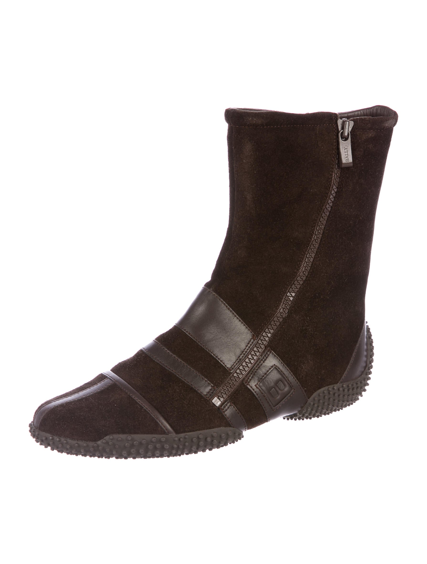 outlet view Bally Round-Toe Suede Ankle Boots discount get authentic n8sWC4x
