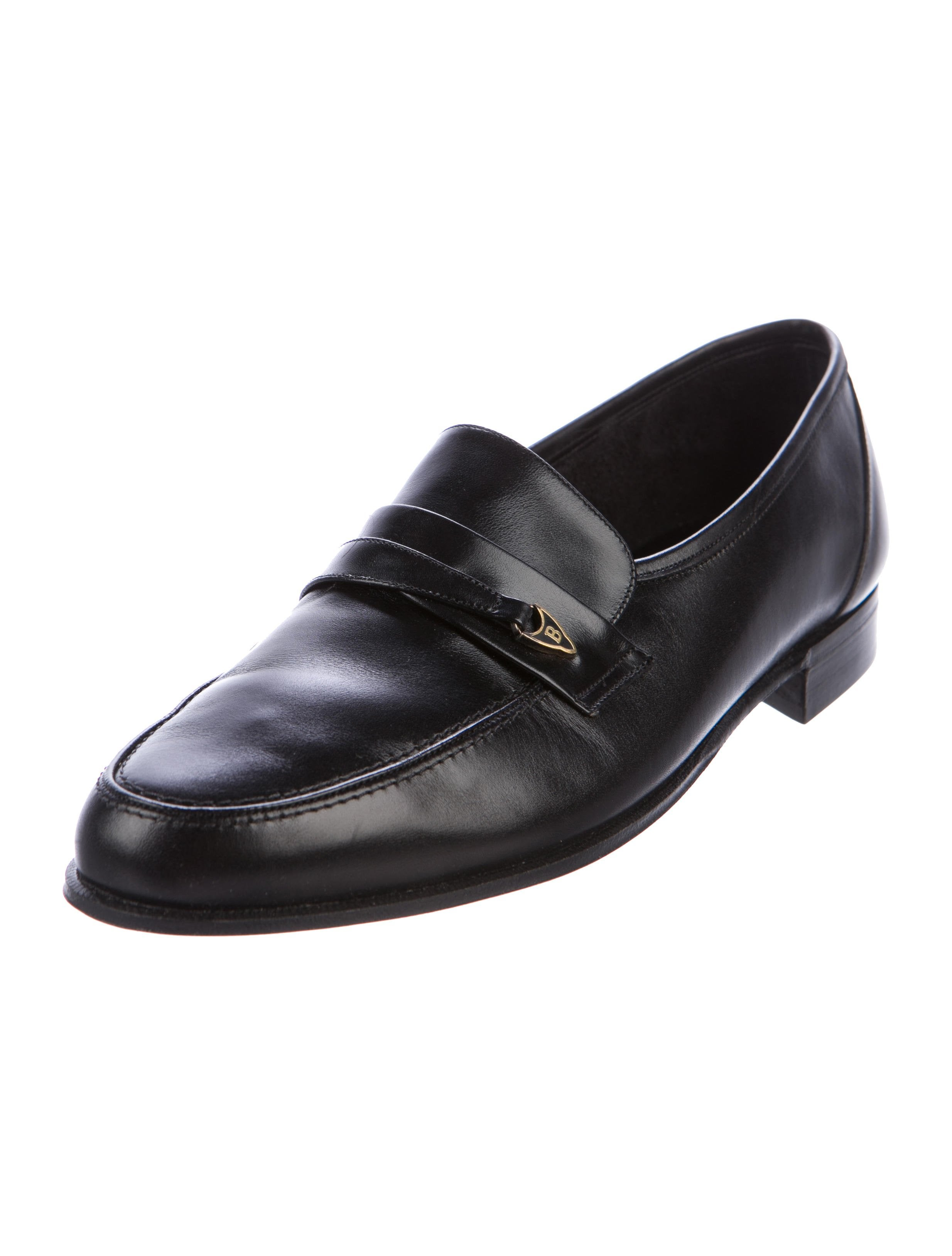 Bally Leather Round-Toe Loafers