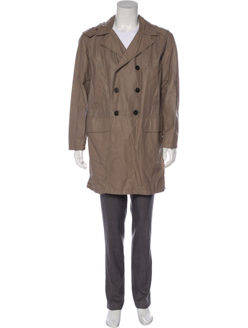 Bally Leather Trench Coat