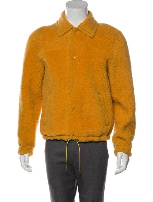Bally 2018 Shearling Varsity Jacket yellow