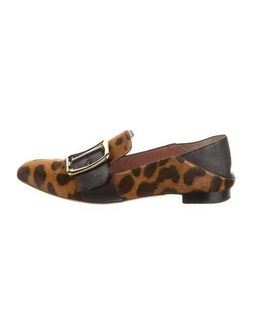 Bally Janelle Ponyhair Loafers brown