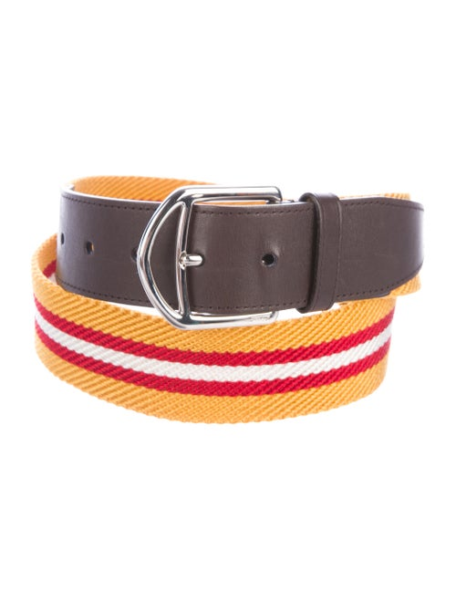 Bally Striped Waist Belt yellow
