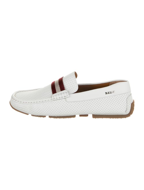 Bally Pearce Leather Loafers white
