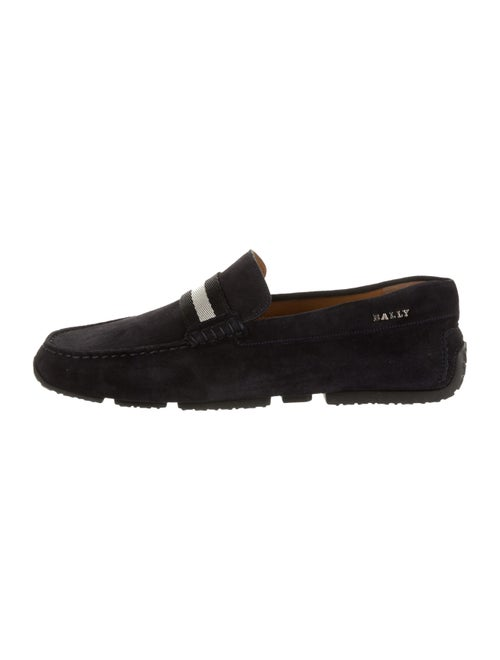 Bally Pearce Suede Loafers navy