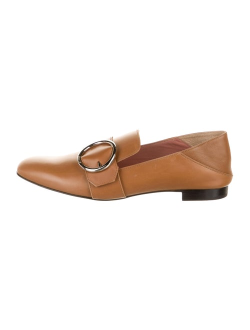 Bally Lottie Leather Loafers Brown