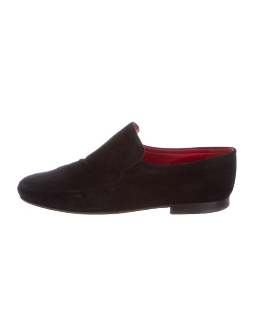 Bally Suede Loafers Black