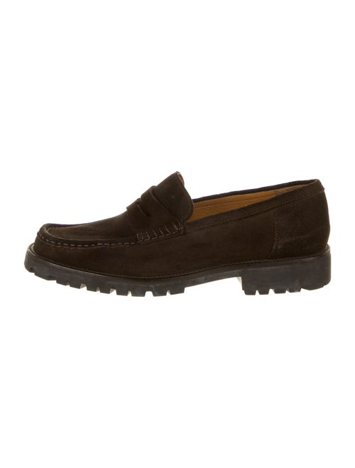 Bally Suede Dress Loafers Brown