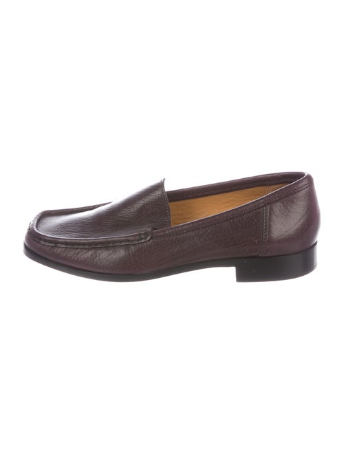 Bally Leather Loafers Purple