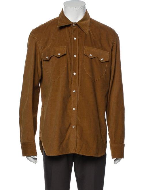 Bally Long Sleeve Western Shirt Brown