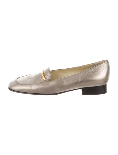 Bally Leather Loafers Gold