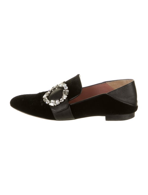 Bally Crystal Embellishments Loafers Black