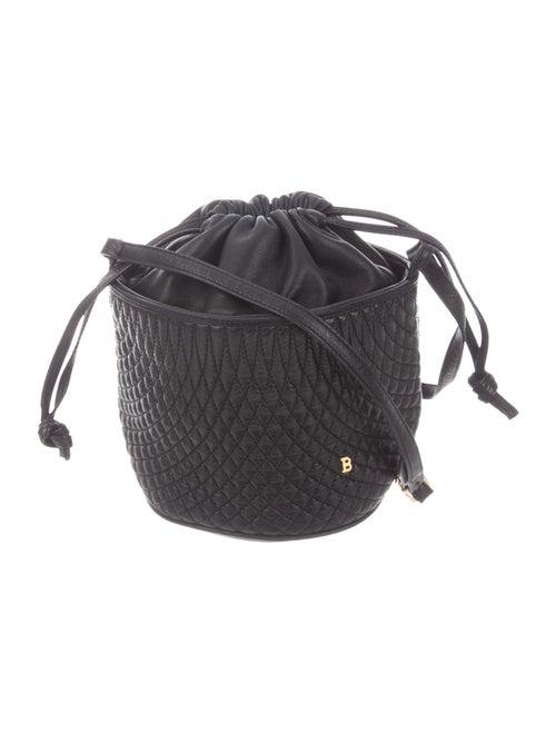 Bally Leather Bucket Bag Black