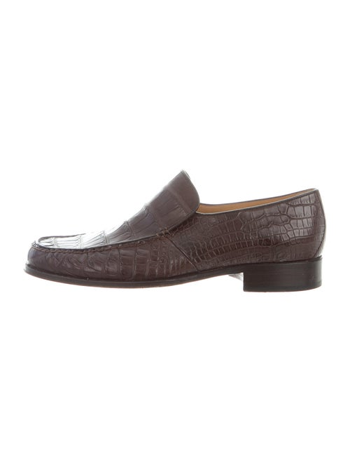 Bally Alligator Loafers Brown