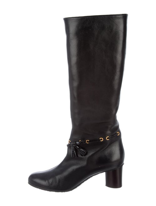 Bally Leather Riding Boots Black