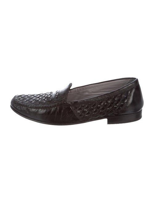Bally Basketweave Leather Loafers Black