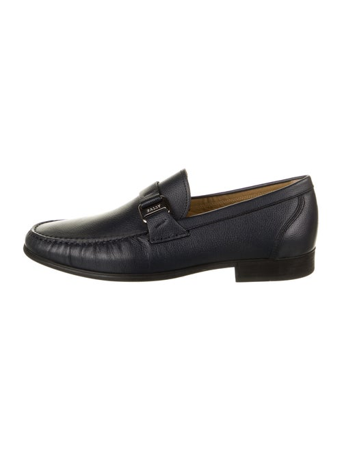 Bally Leather Dress Loafers Blue