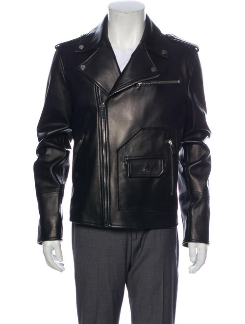 Bally Lamb Leather Moto Jacket Black - image 1