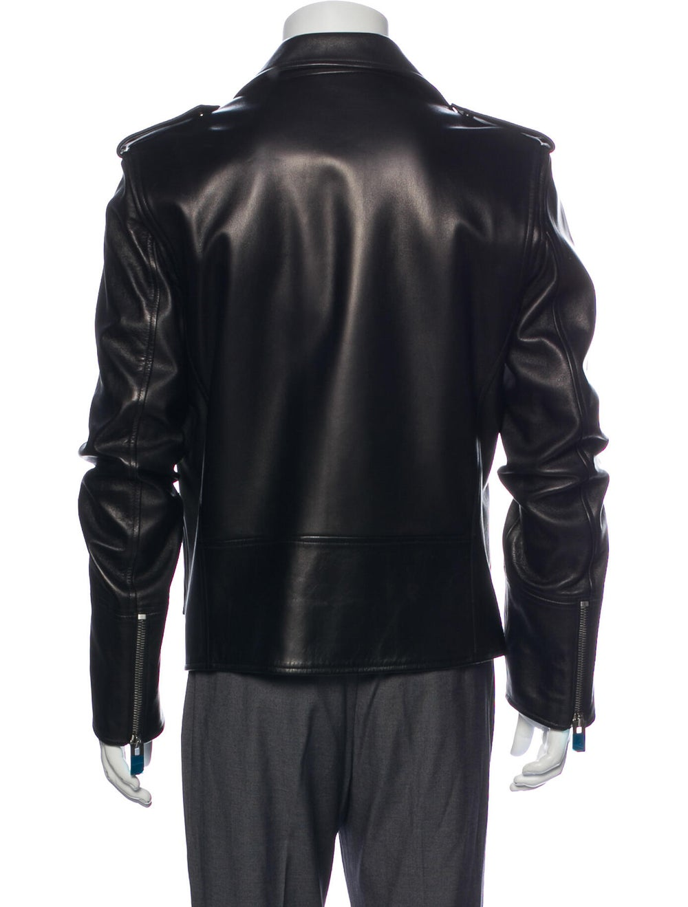 Bally Lamb Leather Moto Jacket Black - image 3