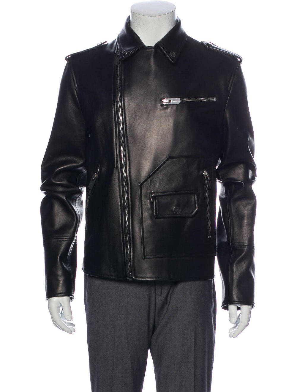 Bally Lamb Leather Moto Jacket Black - image 4