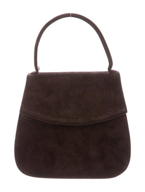 Bally Suede Mini Handle Bag Brown