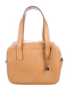 Bally Textured Leather Shoulder Bag