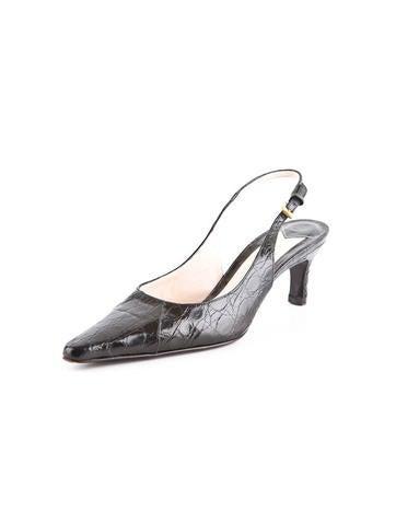 Croc Embossed Heel