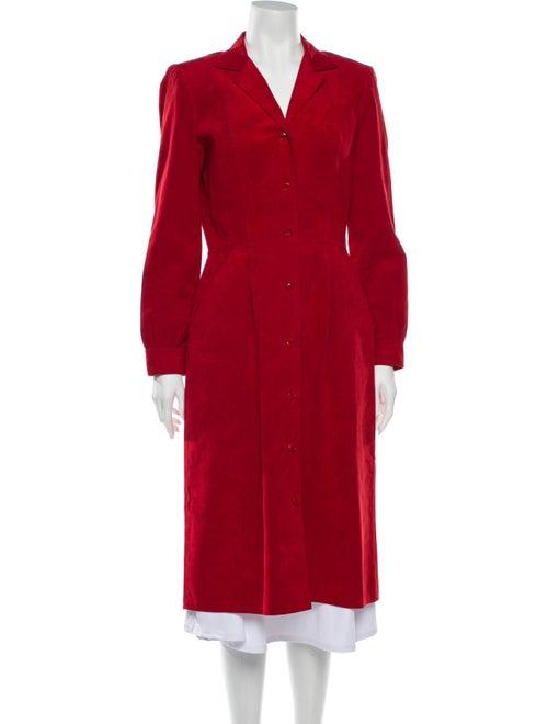 Bill Blass Sport Suede Midi Length Dress Red
