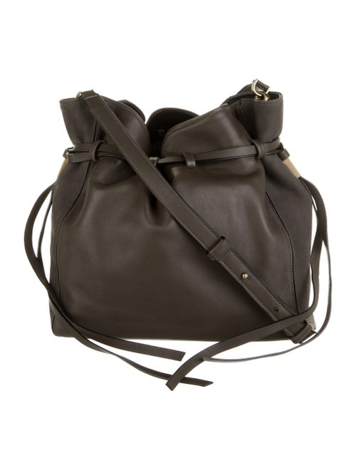 Boyy Laser Leather Bucket Bag Brown