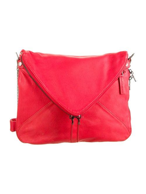 Boyy Printed Leather Shoulder Bag Red