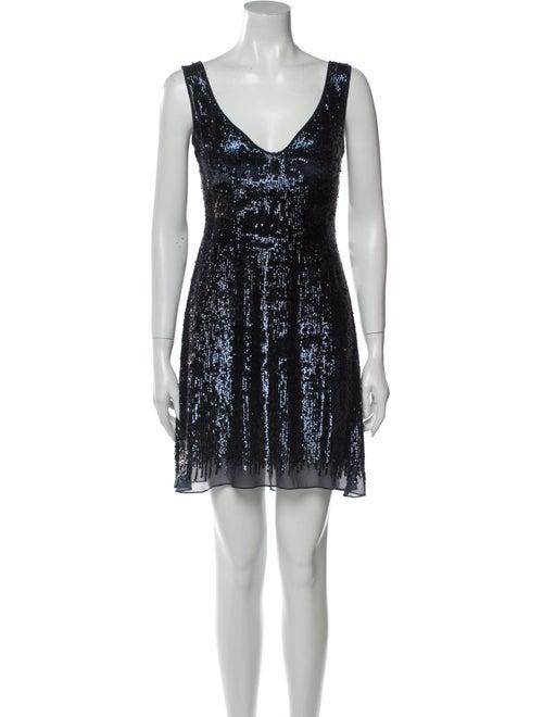 Basix Black Label Silk Mini Dress Black