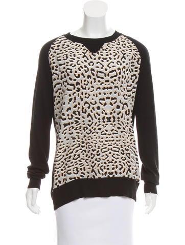 Barney's New York Silk-Accented Raglan Sweater None