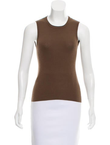 Barney's New York Cashmere Sleeveless Top None