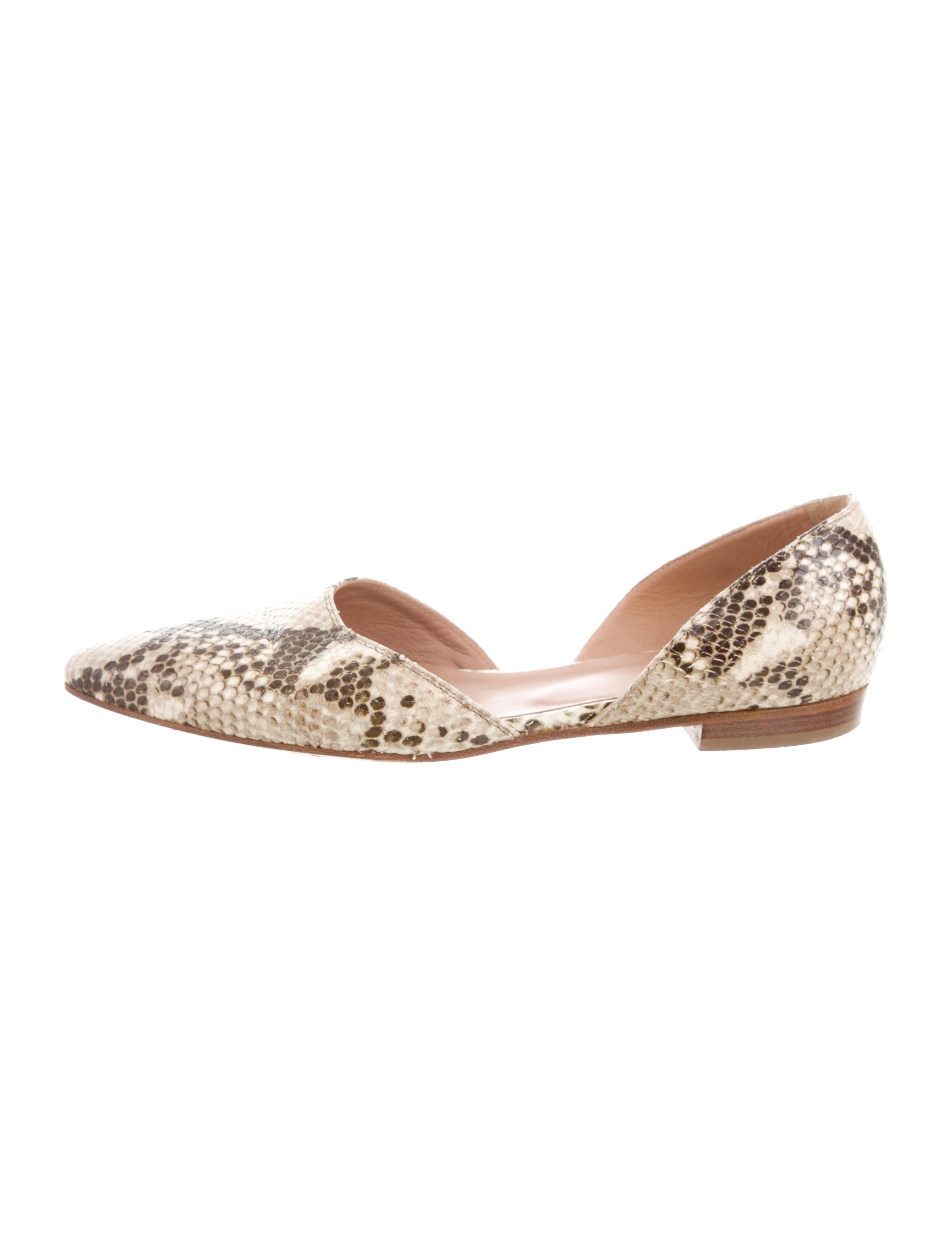 Barney's New York Embossed Leather Pointed-Toe Flats with mastercard for sale buy cheap 100% guaranteed vbHjFZPrR