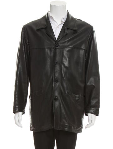 Barney's New York Wool-Lined Leather Jacket None