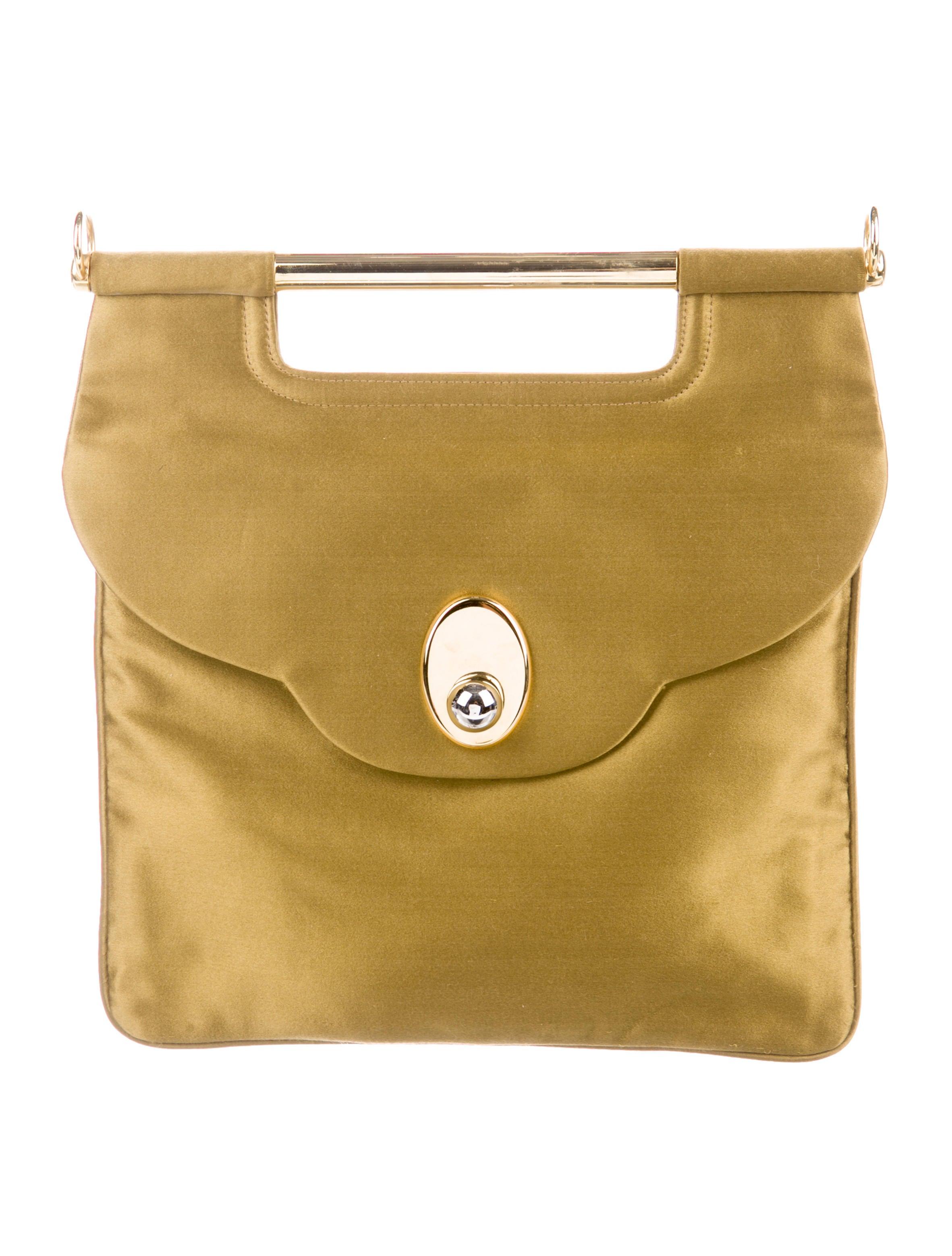 Satin Chain Link Shoulder Bag