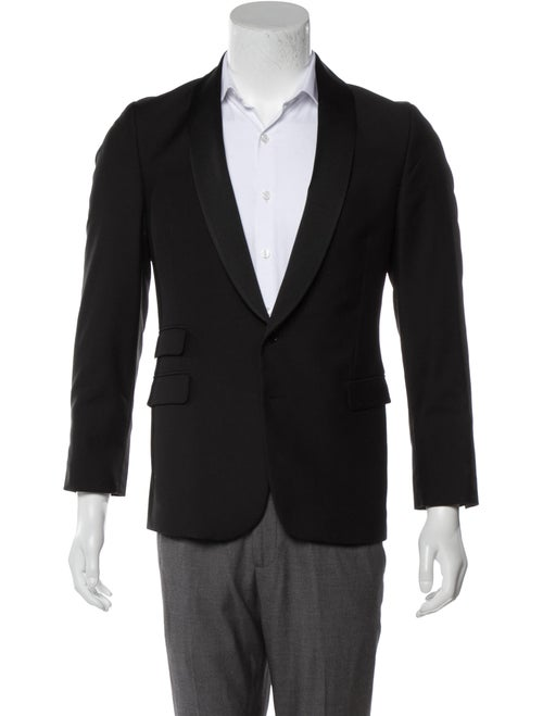 Barney's New York Woven Tuxedo Jacket black