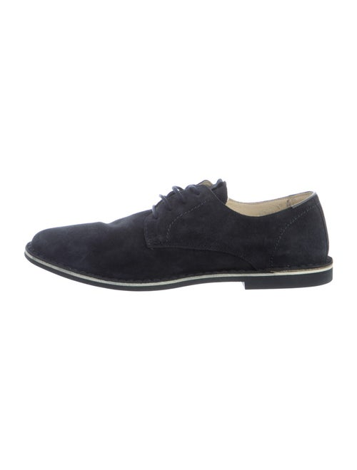Barney's New York Suede Derby Shoes Blue