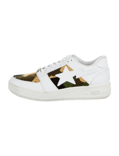 Bape Bapesta Camo Sneakers Athletic Sneakers White