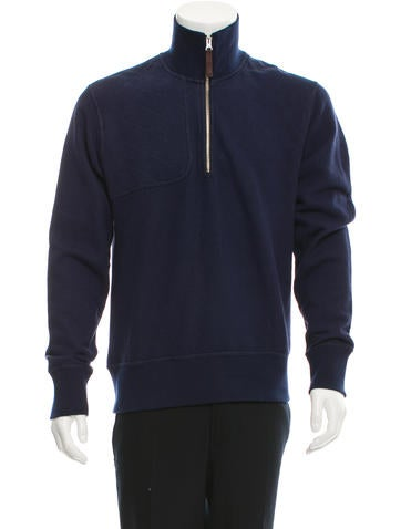 Michael Bastian Quilted Half-Zip Sweater None