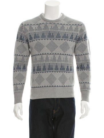 Michael Bastian Crew Neck Intarsia Sweater None