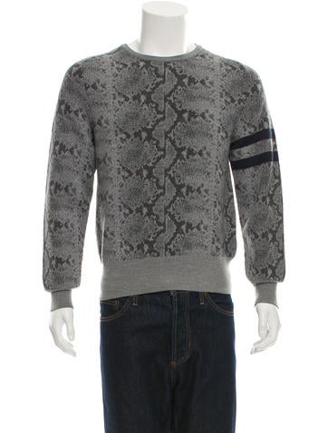 Michael Bastian Intarsia Wool Sweater None