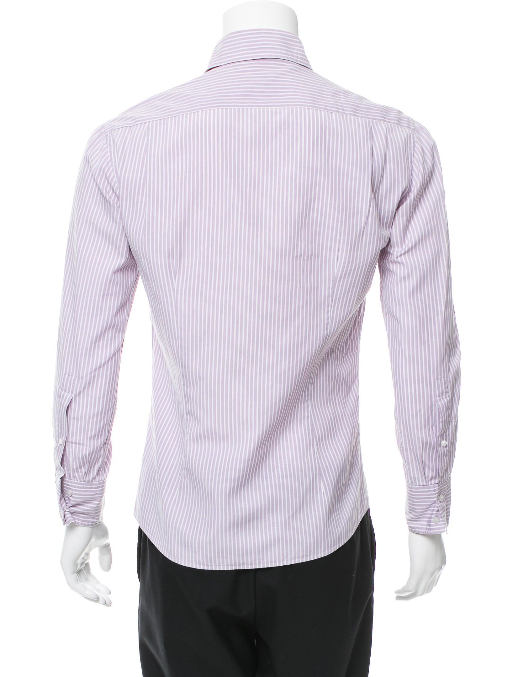 Michael bastian striped button up shirt clothing for Striped button up shirt mens