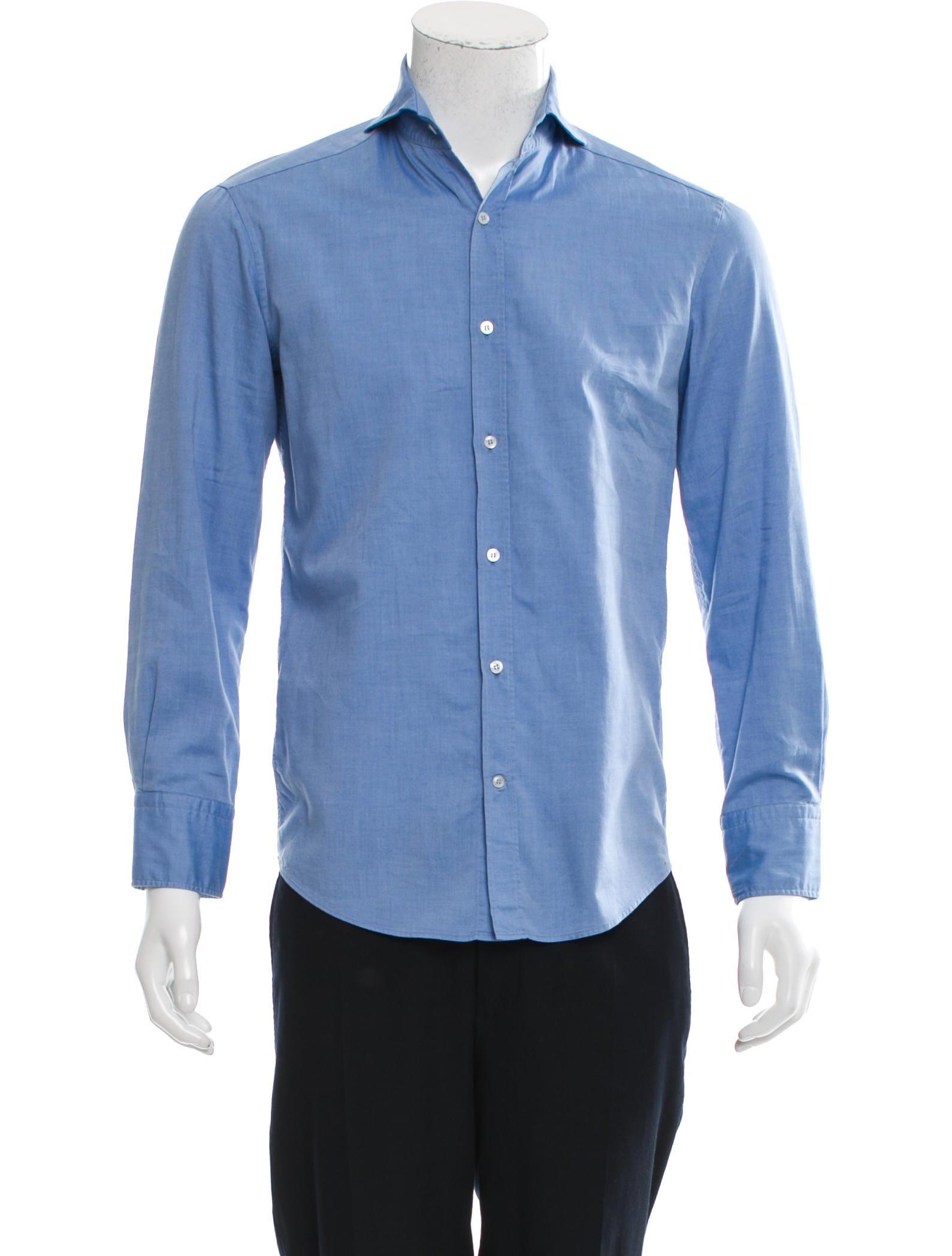Michael Bastian Long Sleeve Button Up Shirt Clothing
