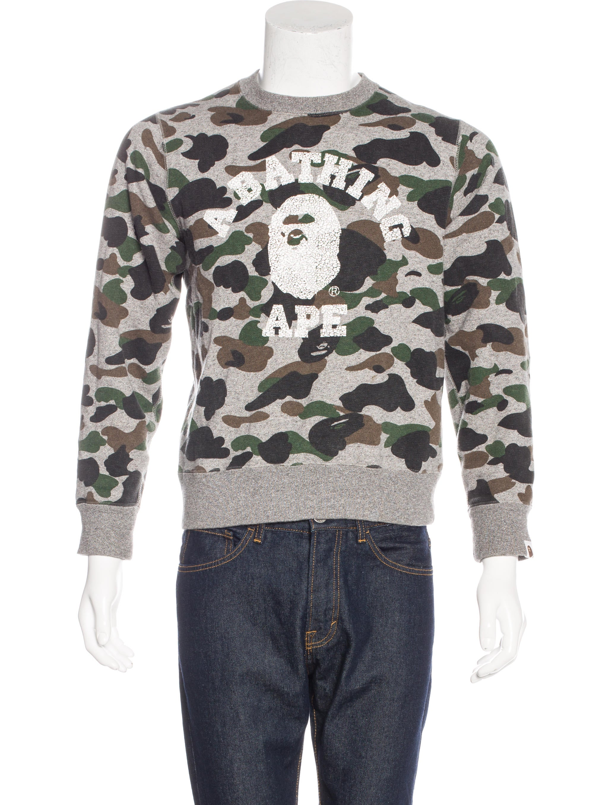 69341f09db28 A Bathing Ape Bape Camo Sweatshirt - Clothing - WBATP20066