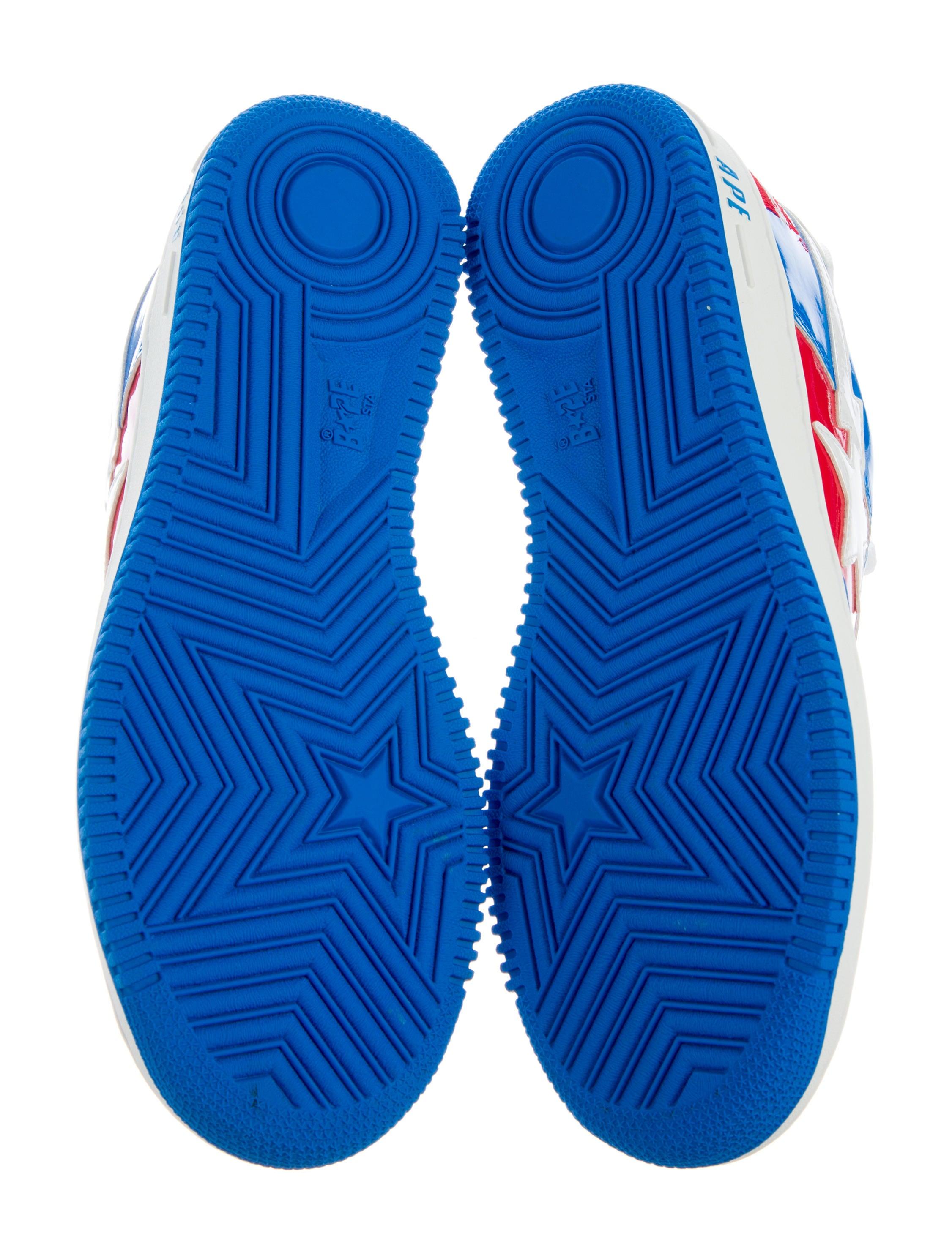 A Bathing Ape Bape Sta Marvel Sneakers Shoes